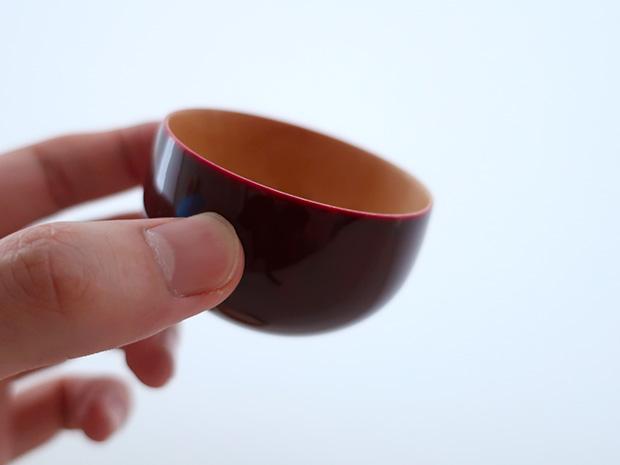 飛騨春慶塗 伝統工芸品 ぐい呑み(おちょこ)B 紅 2