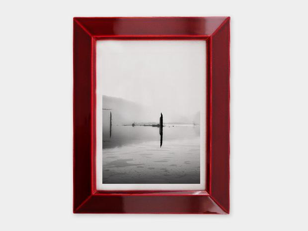 飛騨春慶塗 伝統工芸品 写真立て 大 紅 1