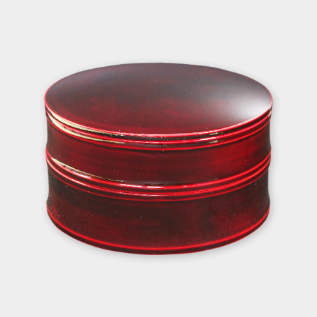 6寸丸二段重 紅(重箱)