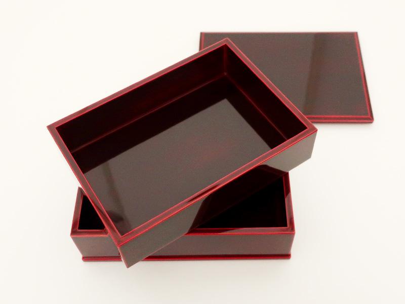 飛騨春慶塗 伝統工芸品 長手二段重 紅(重箱) 2