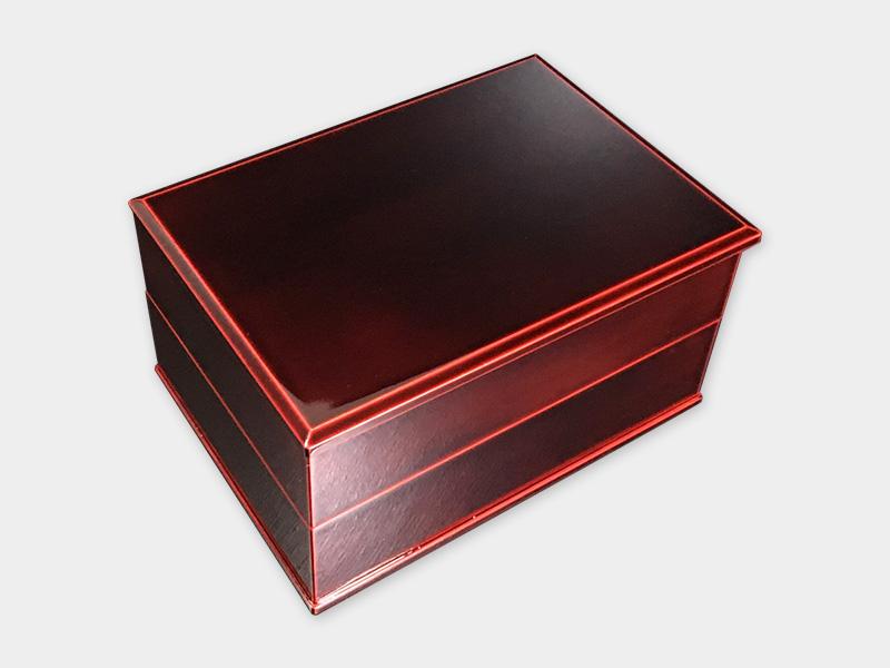 飛騨春慶塗 伝統工芸品 長手二段重 紅(重箱) 1