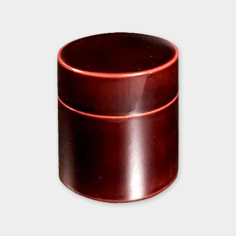 飛騨春慶塗 茶筒 紅