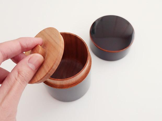 飛騨春慶塗 伝統工芸品 茶筒 2