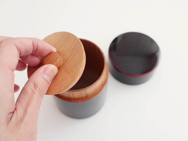 飛騨春慶塗 伝統工芸品 茶筒 紅 2