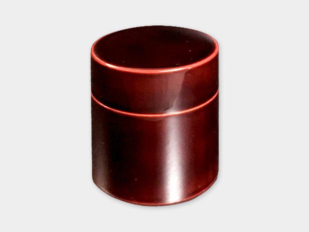 飛騨春慶塗 伝統工芸品 茶筒 紅 1