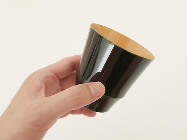 飛騨春慶塗 伝統工芸品 焼酎カップ 小 緑 2