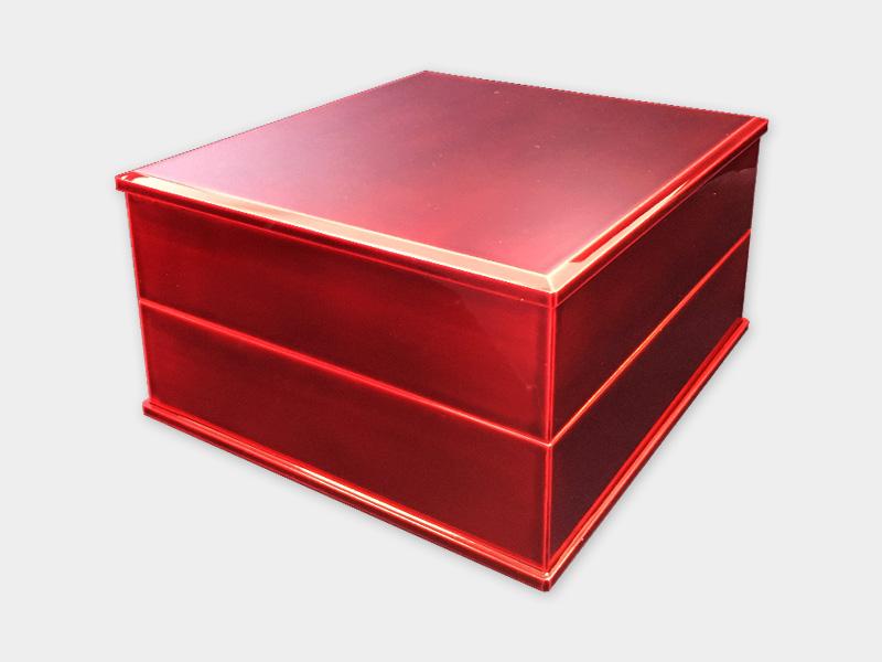 飛騨春慶塗 伝統工芸品 6寸二段重 紅(重箱) 1