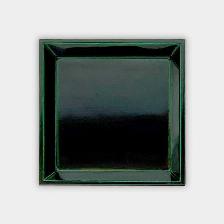 正角小皿・緑