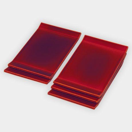 両折上銘々皿 紅